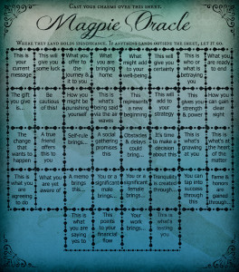 Magpie Oracle Casting Sheet