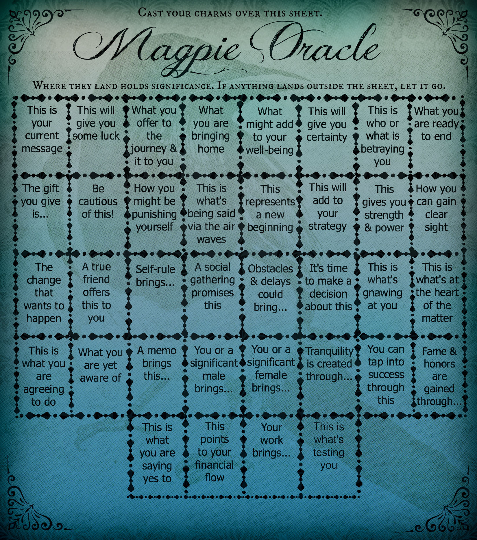 magpie oracle Magpie-Oracle-Casting-Sheet
