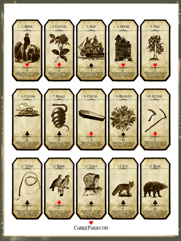 Lenormand Flashcards 1-15