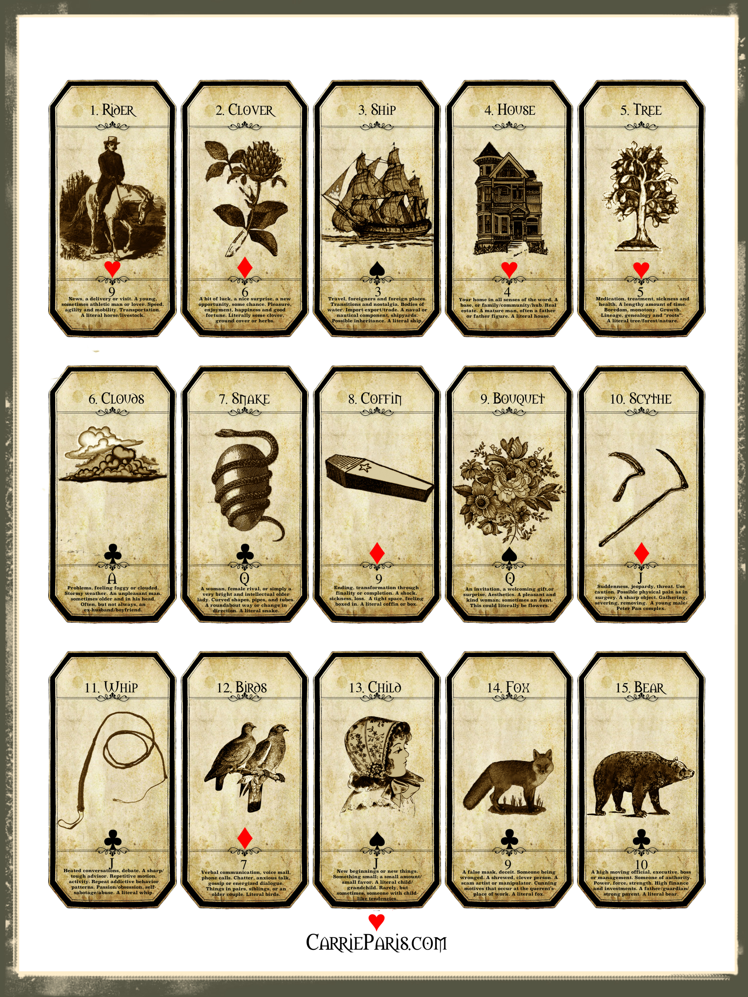graphic about Printable Tarot known as A Free of charge Trip Understanding Deck -