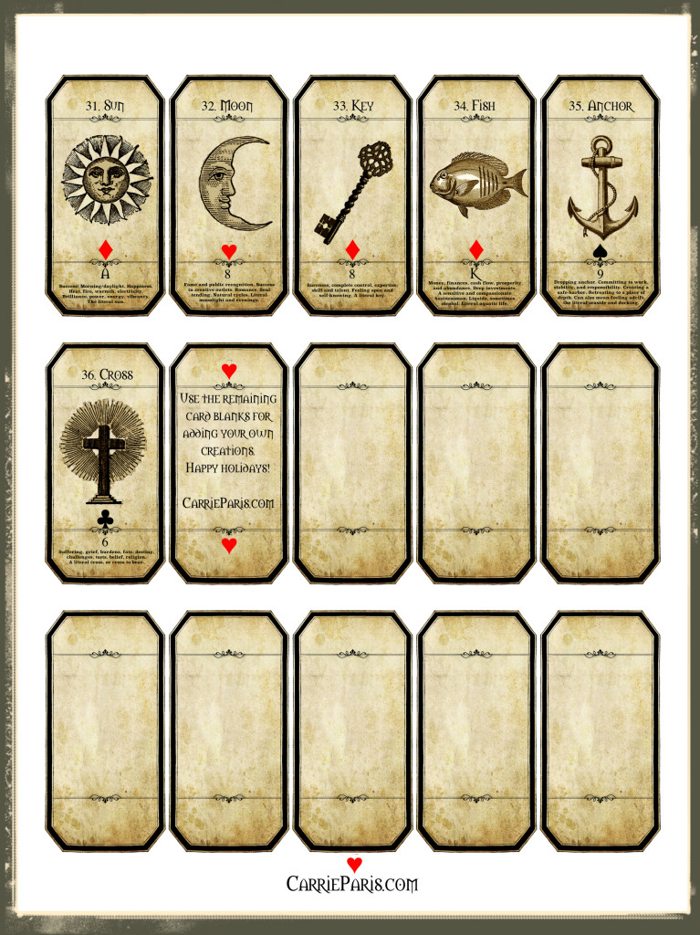Lenormand Flashcards 31-36