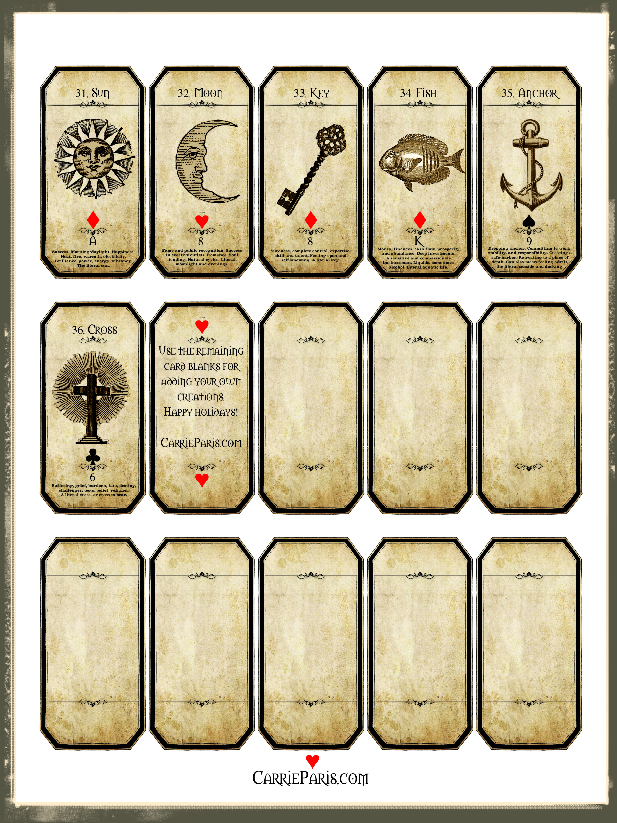 photograph regarding Printable Tarot Flashcards identified as A Absolutely free Family vacation Studying Deck -