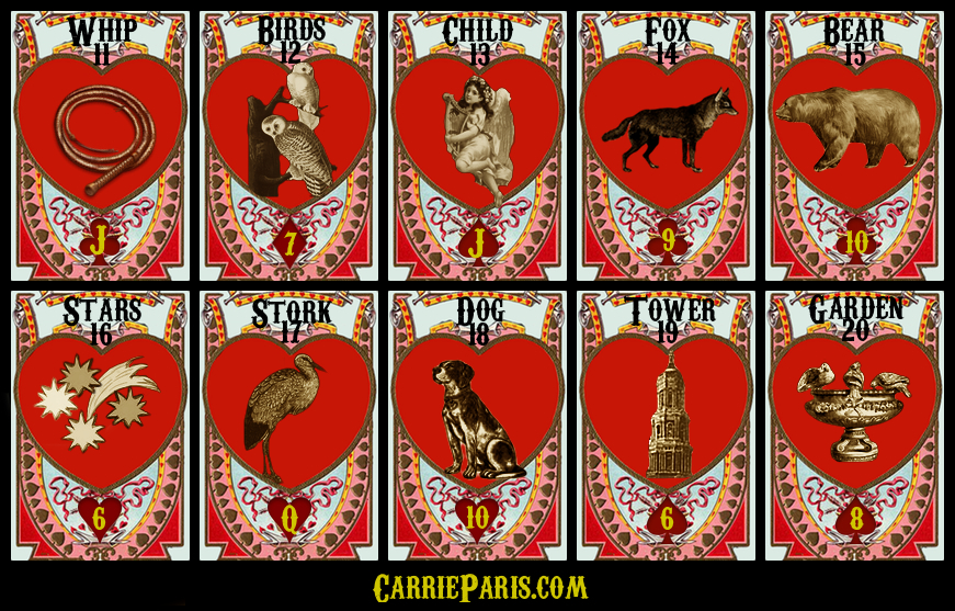 Free Valentine's DAY Lenormand cards 11-20