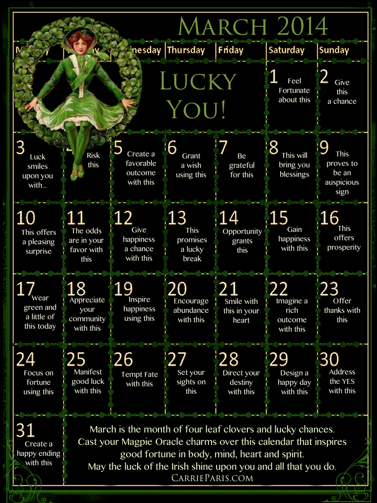 Magpie Oracle March 2014 Casting Calendar