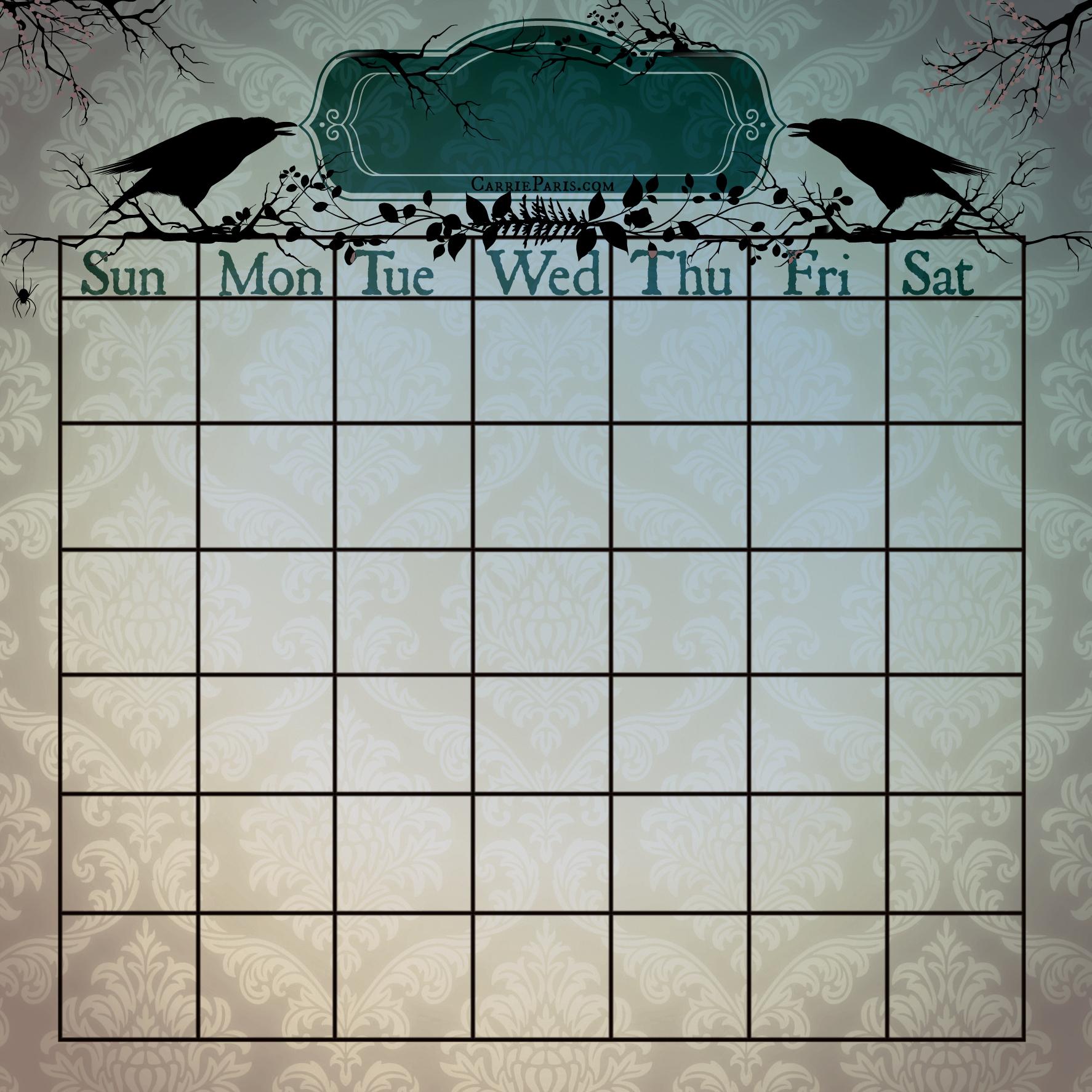 Casting Calendar Template