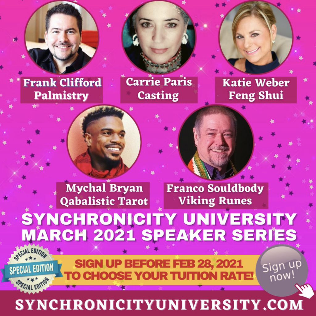 Synchronicity University March Speaker Series